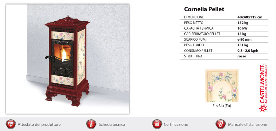 Castelmonte pelletkachel Cornelia