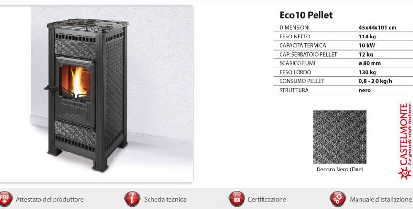 Castelmonte pelletkachel Eco 10