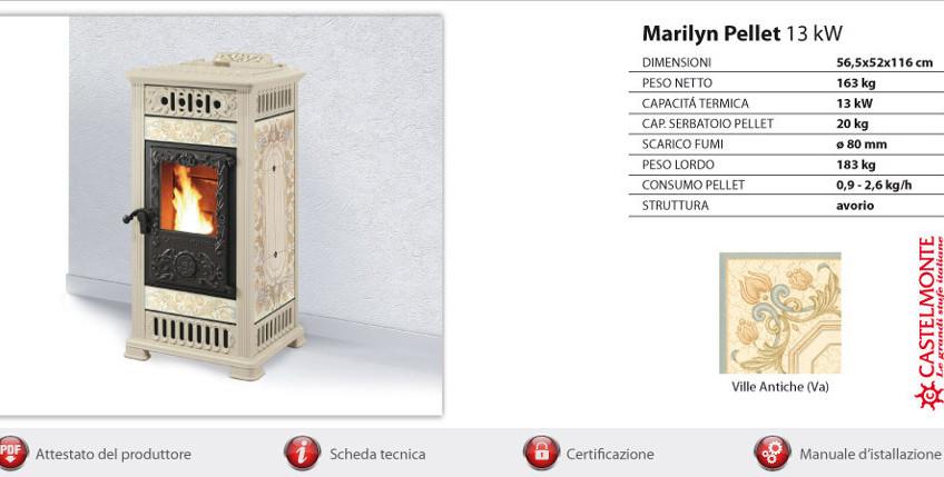 Castelmonte pelletkachel Marilyn
